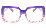 VOV 5139 Polycarbonate Unisex Full Rim Square Optical Glasses
